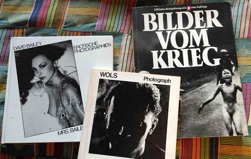 Drei Lieblingsfotobücher: der Bailey, der Wols und die Bilder vom Krieg.