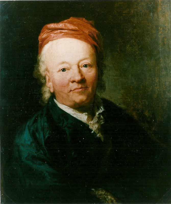 Christian Gottlob (1715-1781), Bankherr, Foto auf Leinwand