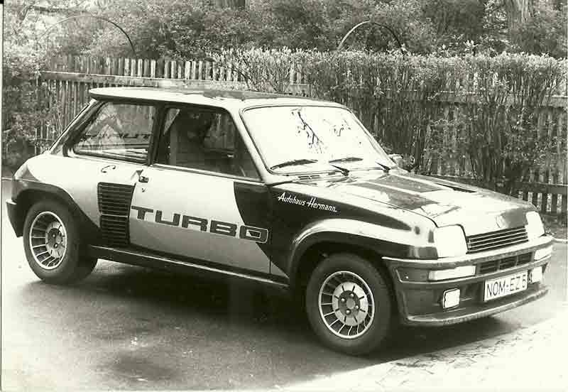 Der Renault 5 Turbo - Testfahrzeug für drei Tage.