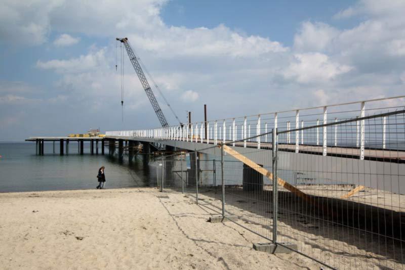 Der Neubau der Seeschlösschen-Brücke.