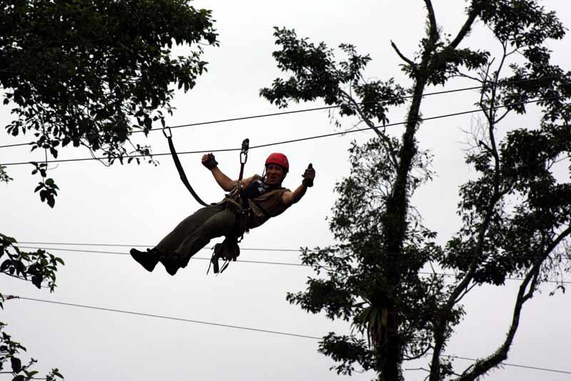 Für ganz Mutige: Canopy oder Sky-Treck.