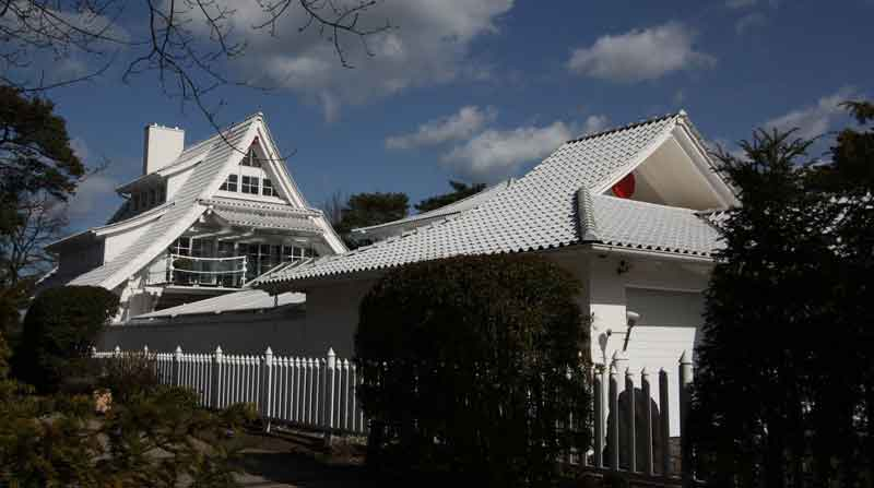 Japanische Villa am Ostseestrand
