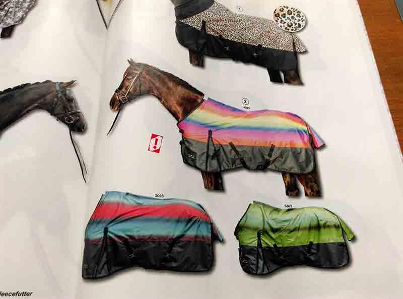 Die Pferdedecke: viel Platz für viel Farbe.