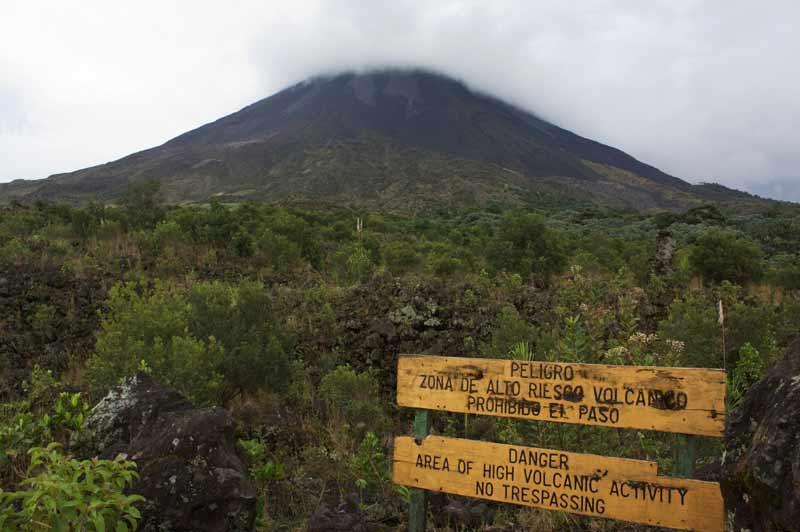 Wanderung am Vulkan Arenal - einem der ganz aktiven.