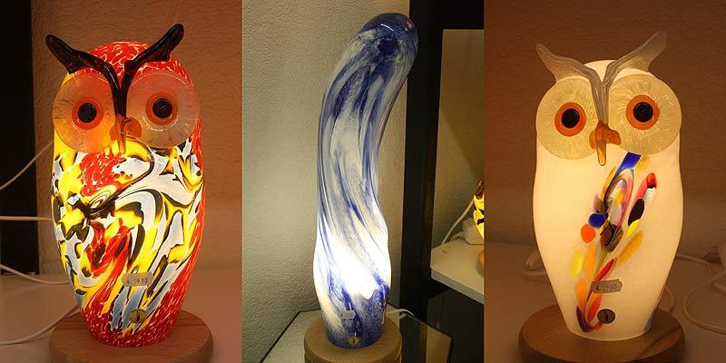 Glaslampen aus der Glasbläserei Malente.