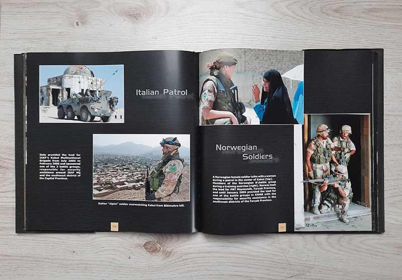 Jede Nation, die bei der ISAF-Mission dabei war, stellt sich vor.