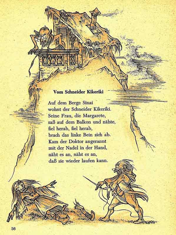 Der Schneider Kikeriki in Westermanns Kinderbuch von 1951